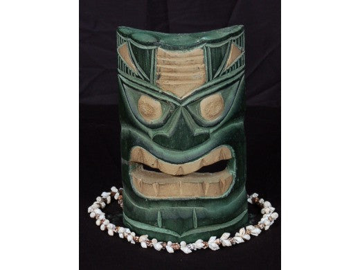 "Intellectual Tiki Mask 8"" - Lono Tiki Idol Hand Carved"