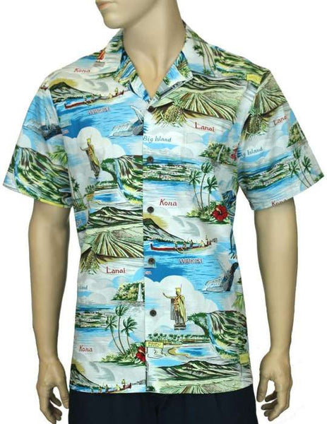 Men Aloha Shirt Islands