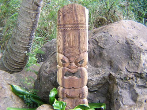 "Tiki Mask Ku - 36"" - Hand Carved Masks In Hawaii"