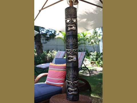 "Tiki Mask Carved 50"" - Strength Tiki - Hawaiian Decor"