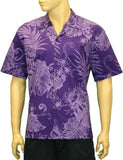 Cotton Hawaiian Aloha Men Shirt - Monstera