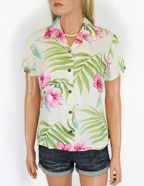 Rayon Hawaiian Shirt for Women Nalani Design