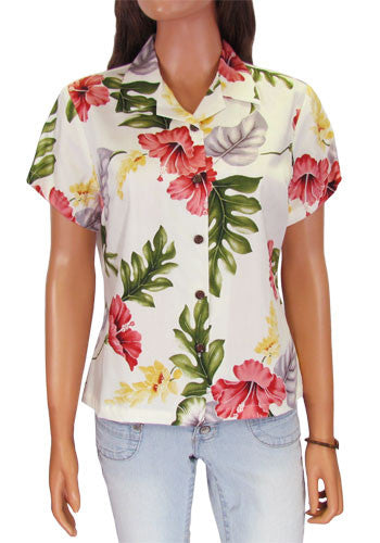 Fitted Hawaiian Women's Blouse - Lanai