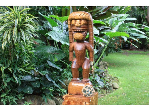 God Of King Kamehameha Tiki - 36 in | Hawaii Museum Replica