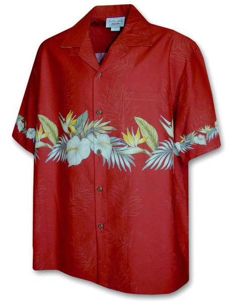 Hawaiian Aloha Shirt - Anthurium Band