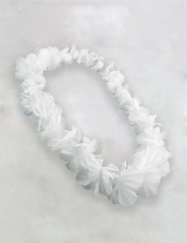 White Party Fun Flower Lei