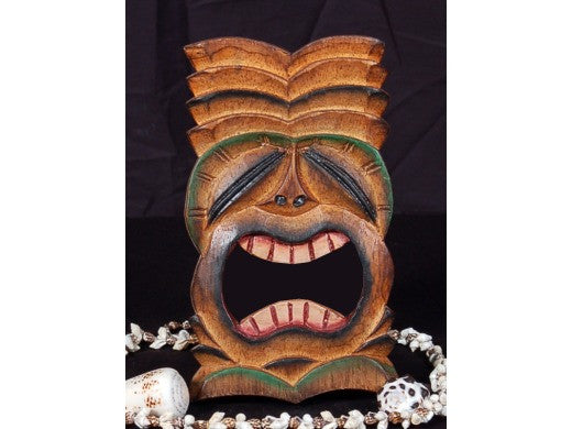 "Big Kahuna Tiki Mask 8"" - Hand Carved"
