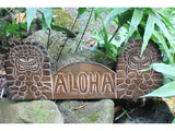 "Wooden ""Aloha"" Tiki Sign - 20 inch - Hand Carved"