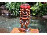 "Lucky Tiki God 12"" - Hand Carved - Hawaii Treasure"