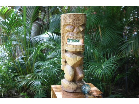 "Carved Ku Tiki 20"" - Outdoor Tiki - Island Art"