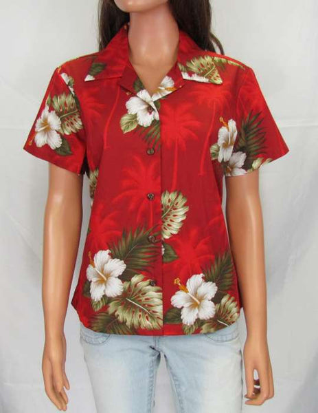 Women's Hawaiian Cotton Fitted Blouse - Ka Pua