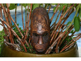 "Fijian Tiki Mask W/ 2 Turtles - 12"" Prosperity - Hawaiian Decor"