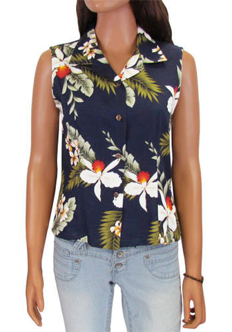 Hanapepe Aloha Sleeveless Blouse