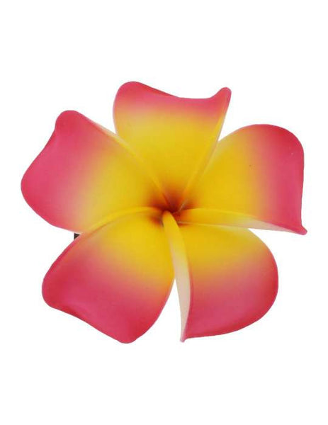 Large Plumeria Flower Hair Clip Pink Yellow