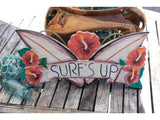 """Surf's Up"" Wooden Sign 16"" - Surf Decor"