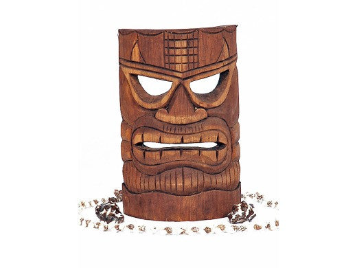 "Money Tiki Mask 8"" - Hand Carved"