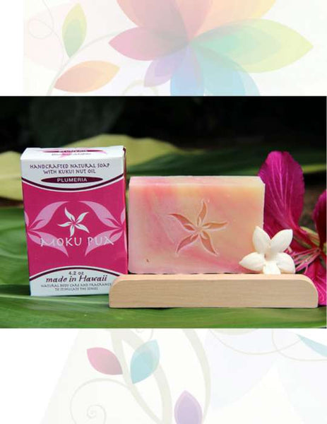 Handcrafted Natural Facial & Body Soaps by Moku Pua Hawaii - 4.2oz Large