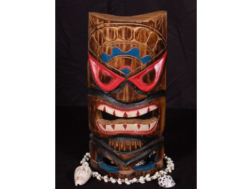 "Carved Polynesian Tiki Mask 12"" - Beach Decor"