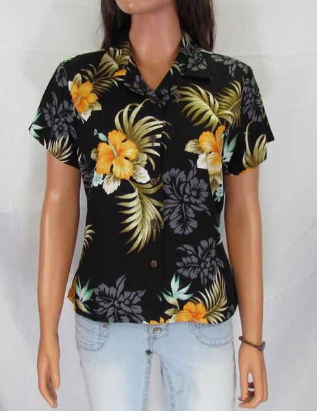Women's Hawaiian Blouse - Birds of Paradise