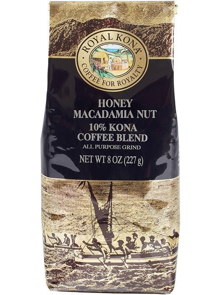 Royal Kona - Hawaiian Coffee - Honey Macadamia - 8oz
