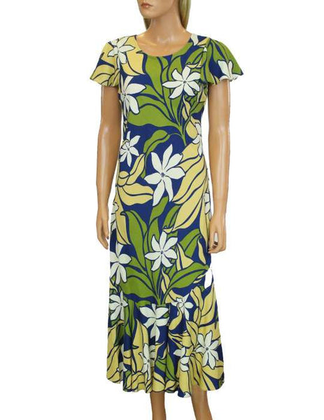 Aloha Mid Cap Sleeves Dress - Tiare