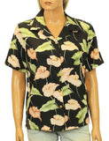Anthurium Garden Hawaiian Camp Rayon Blouse