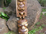 "Premium Stacked Tiki Lono and Kanaloa 48"" - Hawaii Museum"