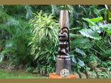 Love Tiki Totem 40 in Stained Hand Carved | Hawaiian Outdoor Decor