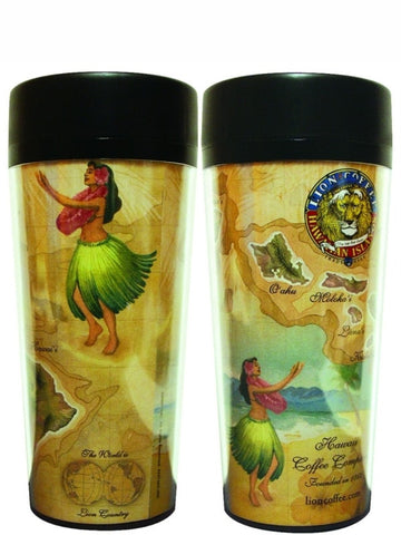 LION Essentials - Vintage Map Tumbler - 16oz