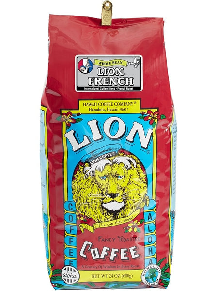 LION Hawaiian Coffee - French Roast - 24oz
