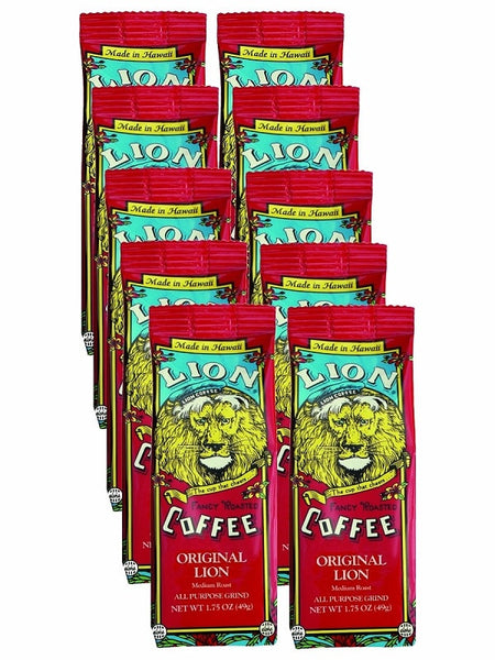 LION Hawaiian Coffee - Singles Original - 10pk