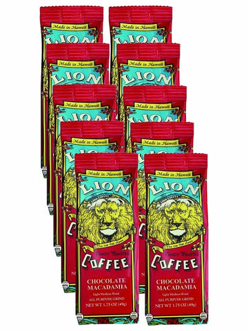 LION Hawaiian Coffee - Singles Chocolate Macadamia - 10pk