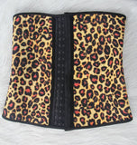 Leopard Latex Steel Boned Cincher