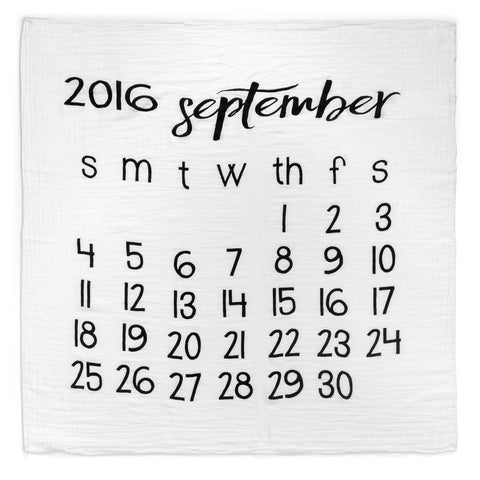 Modern Burlap Muslin Swaddle - Months - Final Sale
