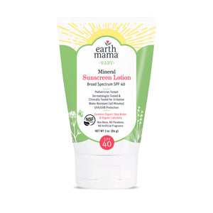 Earth Mama Baby Mineral Sunscreen Lotion - Broad Spectrum SPF 40