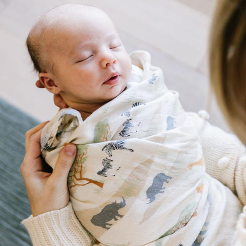 Saranoni Bamboo Rayon Muslin Swaddle - The Savannah