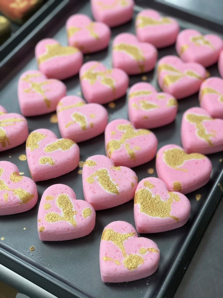 Oily Blends Heart Valentine Bath Bombs
