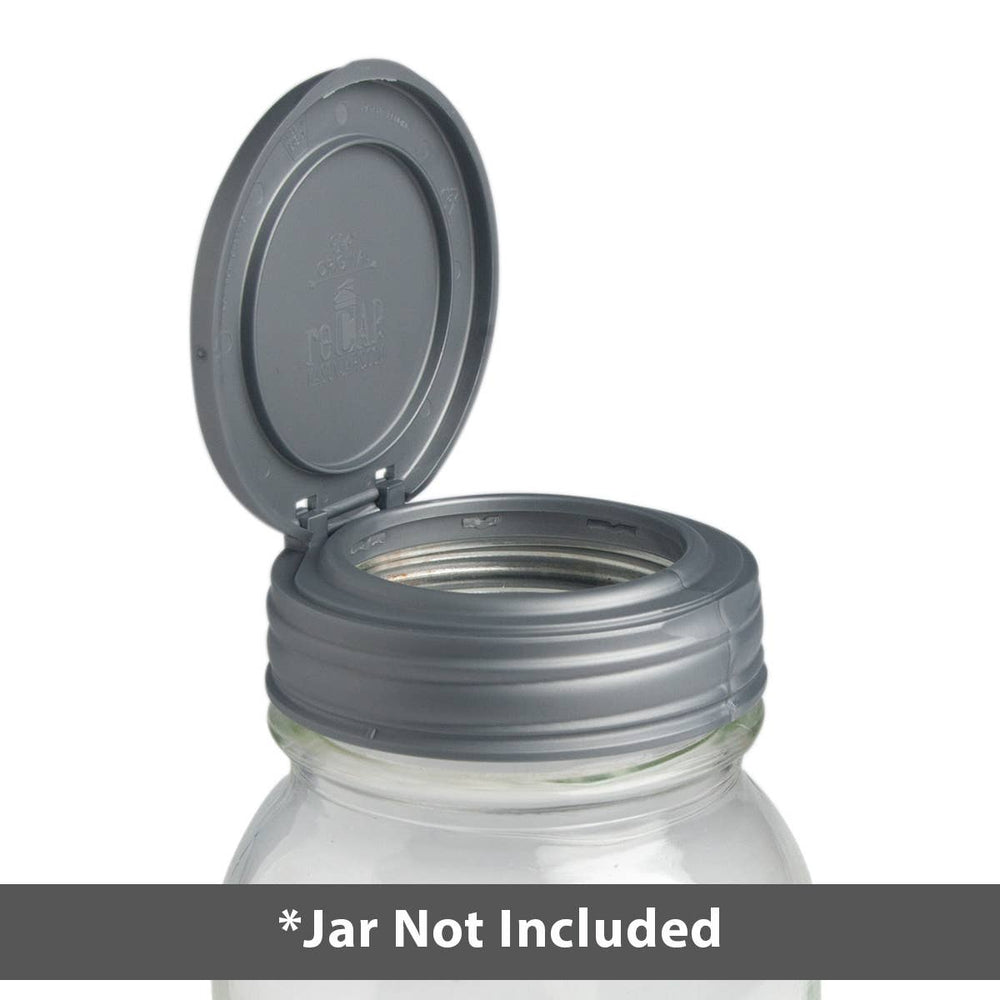 reCAP® Mason Jars Lid FLIP Cap, Regular Mouth