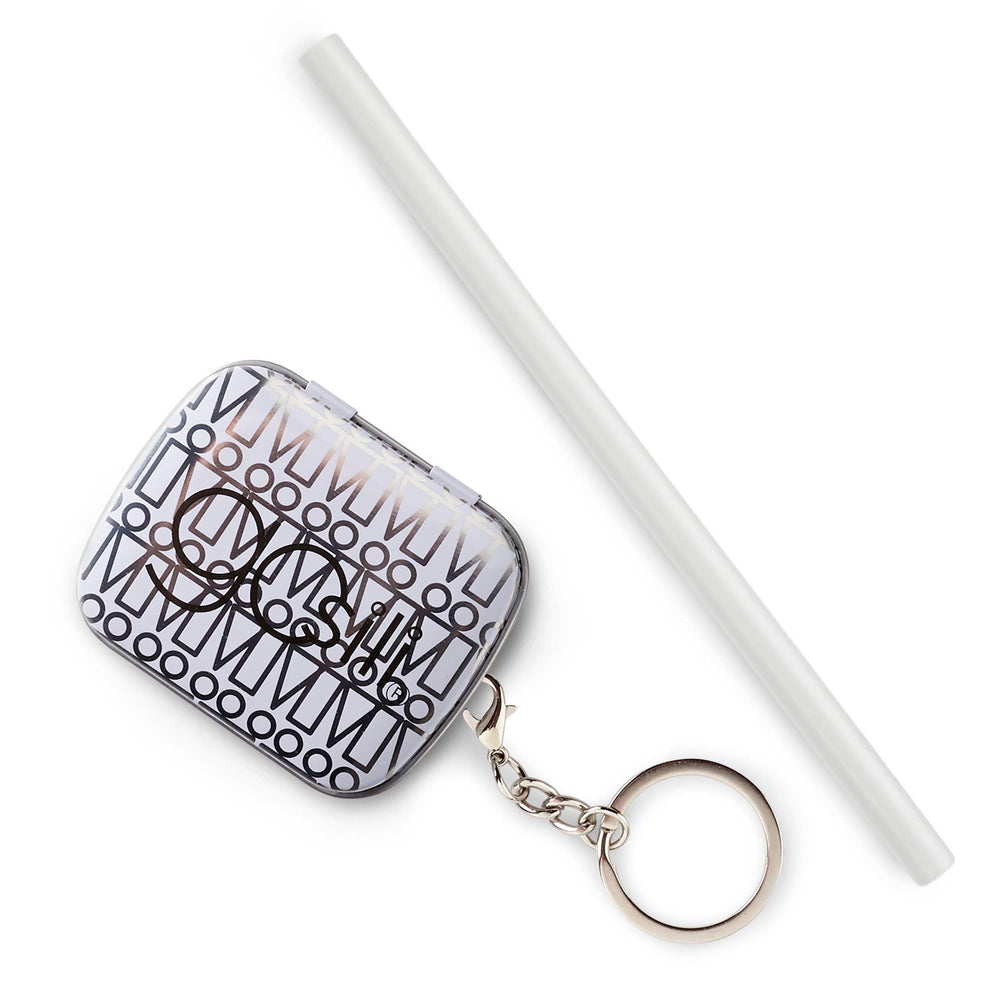 Load image into Gallery viewer, GoSili Reusable Silicone Straw + Keychain Case