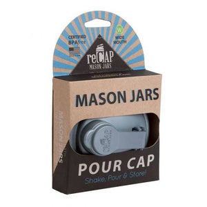 reCAP® Mason Jars Lid POUR cap, Wide Mouth