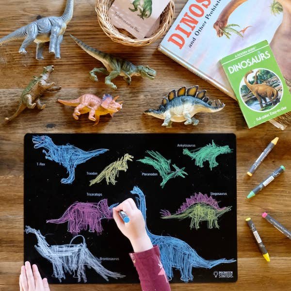 Imagination Starters - Reversible Dinosaurs Placemat Chalkboard