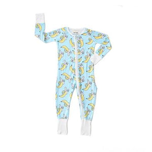 Load image into Gallery viewer, Little Sleepies Bamboo Zip Romper/Sleeper - Banana Baby