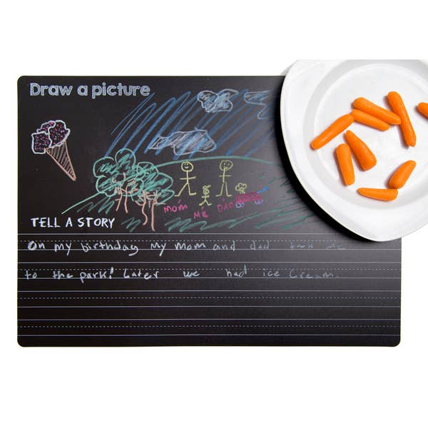Imagination Starters - Reversible Draw & Write Placemat Chalkboard
