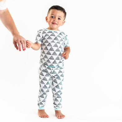 Little Sleepies Two Piece Pajama Set - Triangles