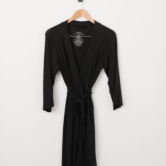Little Sleepies Women's Bamboo Viscose Robe - Black
