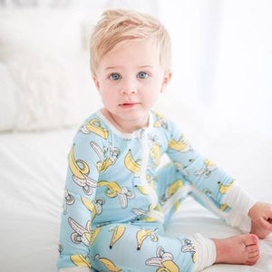 Little Sleepies Bamboo Zip Romper/Sleeper - Banana Baby