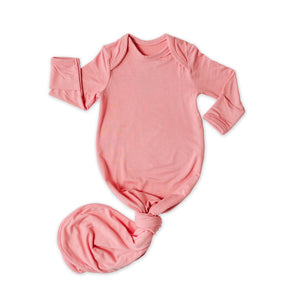 Little Sleepies Bamboo Viscose Infant Knotted Gown - Bubblegum