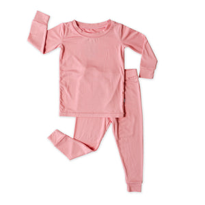 Load image into Gallery viewer, Little Sleepies Two-Piece Bamboo Viscose Pajama Set - Bubblegum