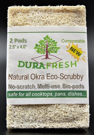 DURAFRESH Natural Okra Scrub Pad - 2pk