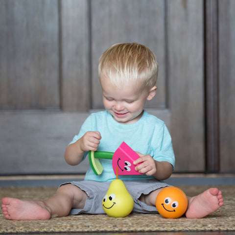 Fat Brain Toys - Fruit Friends 3-in-1 Toddler Toy